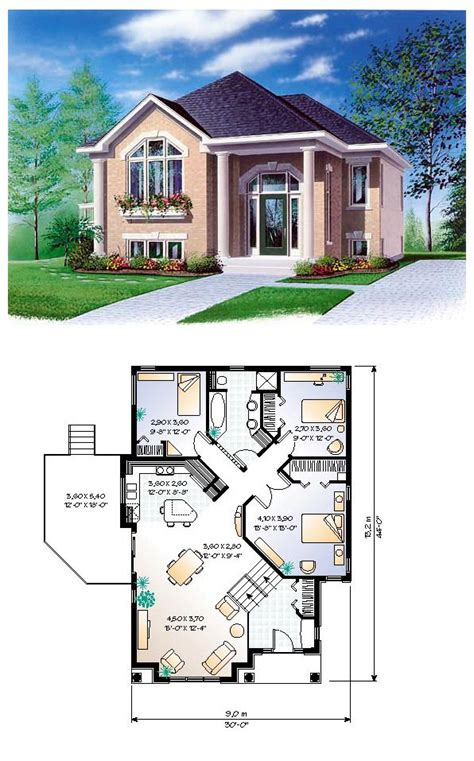 sims 3 4 bedroom house design house plan 65350 total living area 1234 sq ft 3