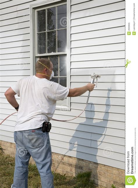 spray painter house contractor spray painting stock image image of high