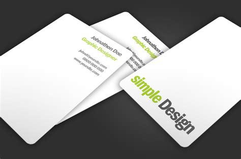 how to make a simple business card simple design free business card template free