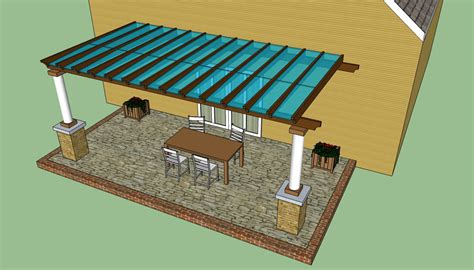 covered pergola plans pergola design howtospecialist how to build step by