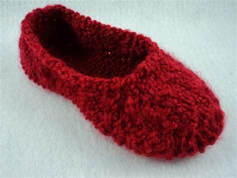 knitted slipper pattern moniqueraedesigns new knit slipper pattern