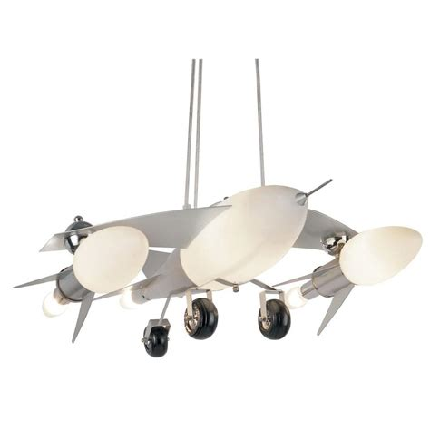 airplane pendant light bel air lighting jet airplane 6 light frosted glass