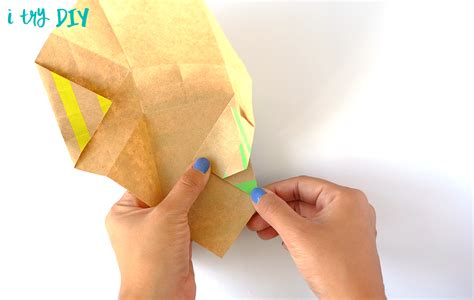 origami popcorn box mini origami shopping bag i try diy