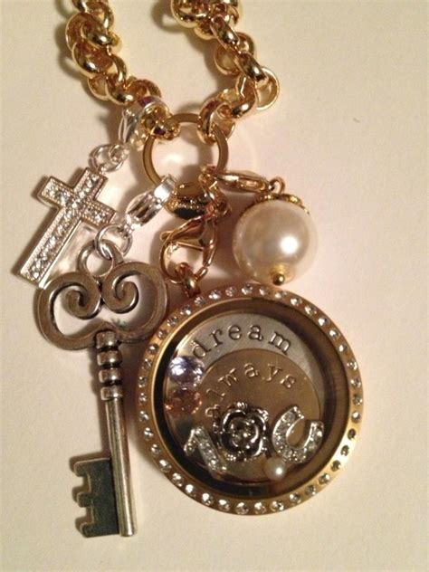 origami owl gold pin by district antiques on origami owl lockets