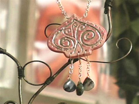 how to make porcelain jewelry how to make a ceramic and necklace hgtv