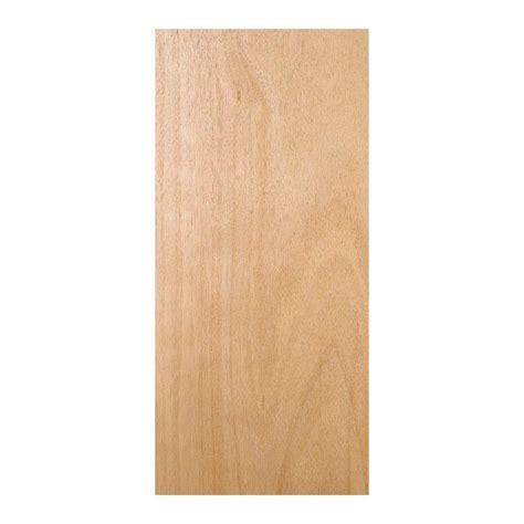 32 in x 78 in unfinished flush hardwood interior door