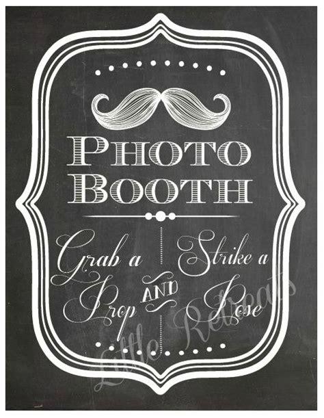 diy chalkboard photo booth diy printable pdf photo booth sign photo booth prop