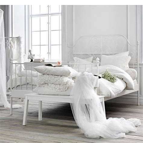 ikea white iron bed frame ikea leirvik bed frame white size iron