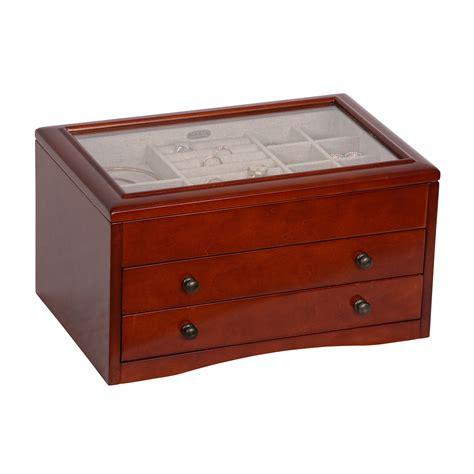 jewelry box walnut jewelry box kmart
