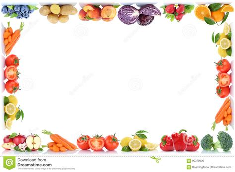Kitchen Designs Unlimited fruits and vegetables copyspace frame border copy space
