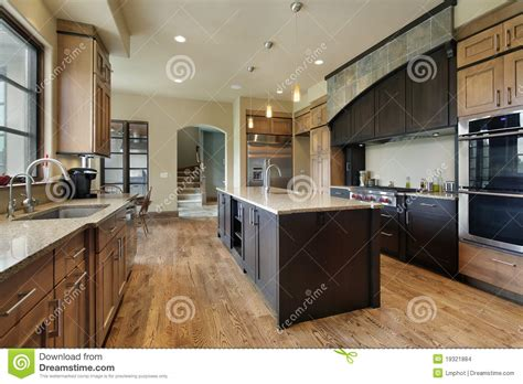 kitchen with center island kitchen with large center island stock images image 19321884