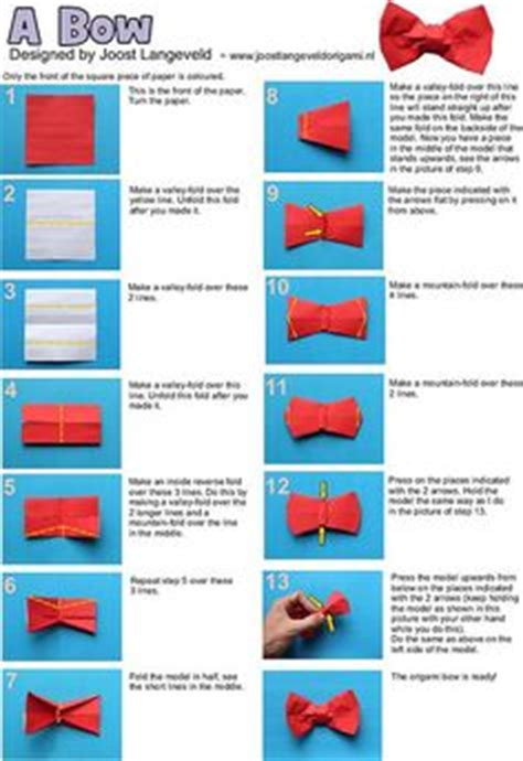 how to make a bow tie origami 1000 ideas about origami bow on origami easy