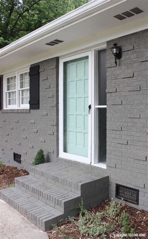 houses painted gray sherwin williams quot gauntlet gray quot brick quot waterscape