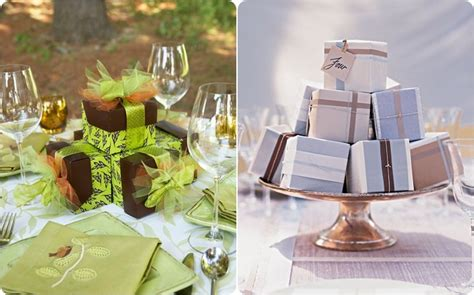 gift box centerpiece ideas wedding favors that can be used as centerpieces budget