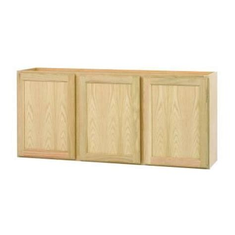 unfinished cabinet doors home depot null 54x24x12 in wall cabinet in unfinished oak toys