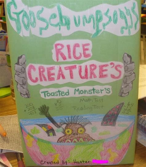 cereal box book report pictures third grade cereal box book report teaching reading