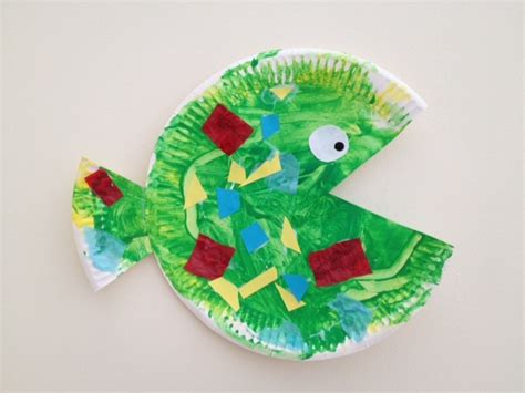 easy paper crafts for preschoolers hungry paper plate fish my kid craft
