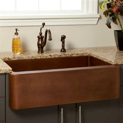hammered copper farmhouse kitchen sinks 36 quot vernon hammered copper farmhouse sink kitchen