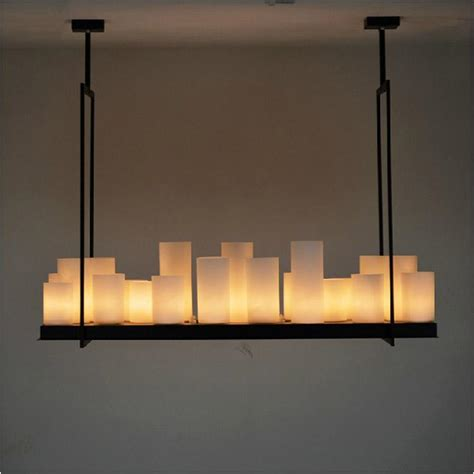 iron candle chandelier european style rectangle modern candle decorative modern