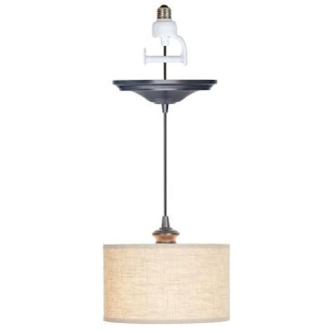 pendant lights home depot worth home products 1 light brushed bronze instant pendant