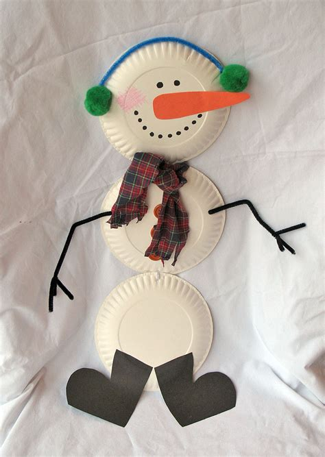 snowman crafts for family crafts and recipes crafts paper plate