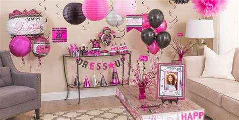 pink decorations black pink birthday supplies city