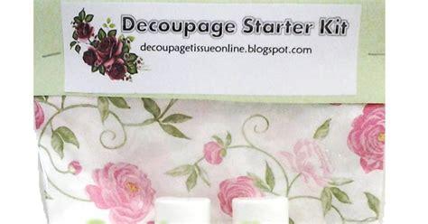 decoupage starter kit wardah decoupage decoupage starter kit