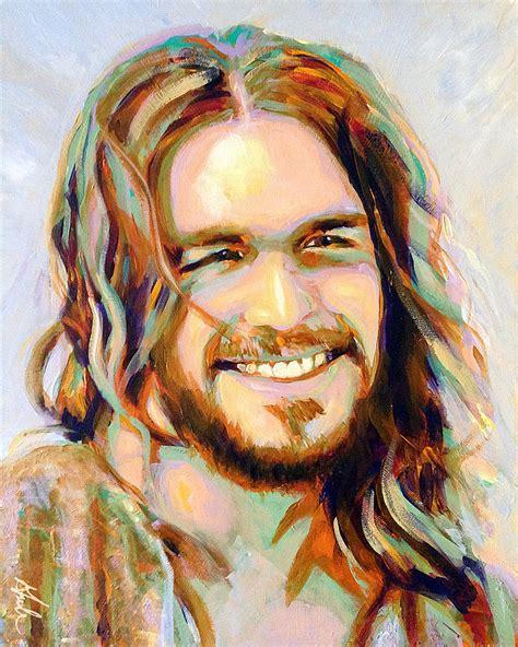 acrylic painting of jesus yeshua painting by steve gamba