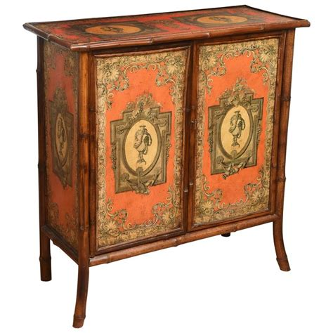 antique decoupage antique bamboo cabinet with decoupage d 233 cor for sale at