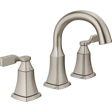 Delta 2 Handle Kitchen Faucet shop delta sawyer spotshield brushed nickel 2 handle