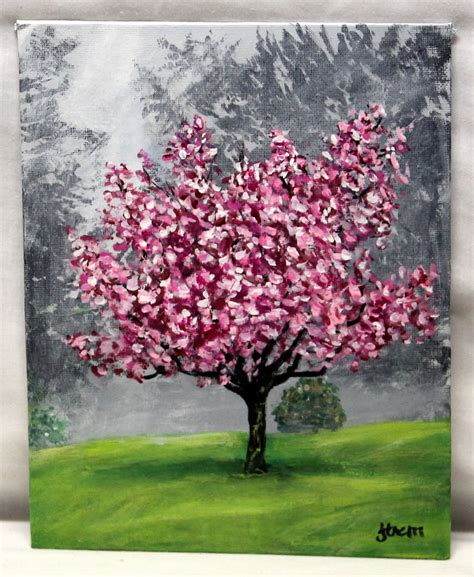 acrylic painting cherry blossom chandeliers pendant lights