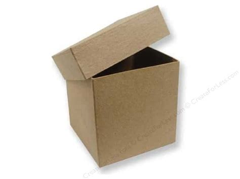 craft paper boxes paper mache square box 4 in by craft pedlars 12