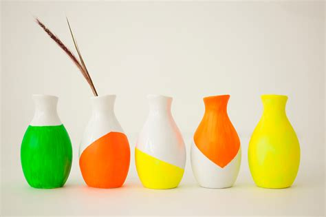 glow in the paint for vases how to make glow in the vases candles and napkins