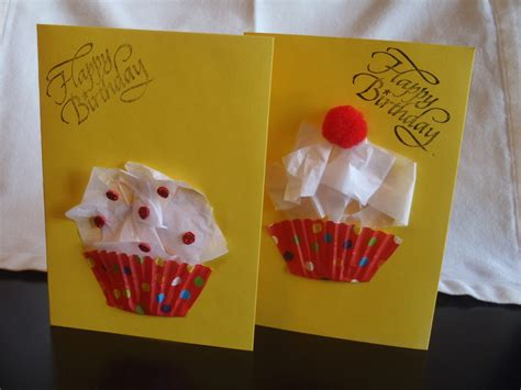 birthday craft ideas for cupcake birthday cards my kid craft