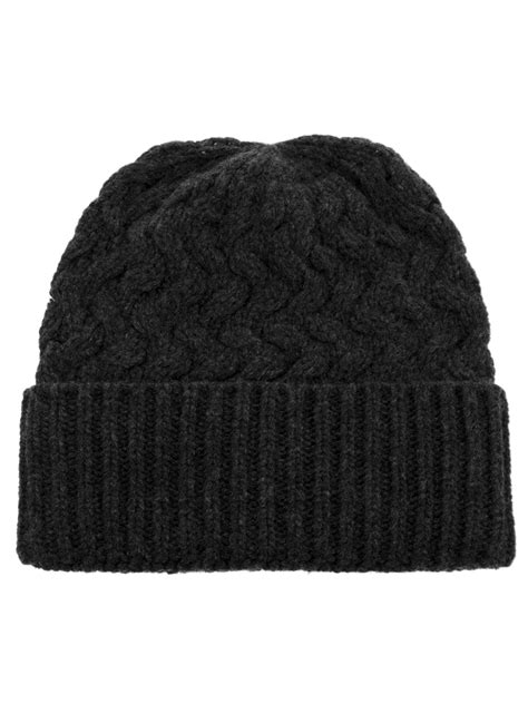 grey knit beanie dolce gabbana knitted beanie hat in gray for grey