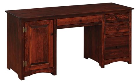 computer desks wood amish pine wood computer desk