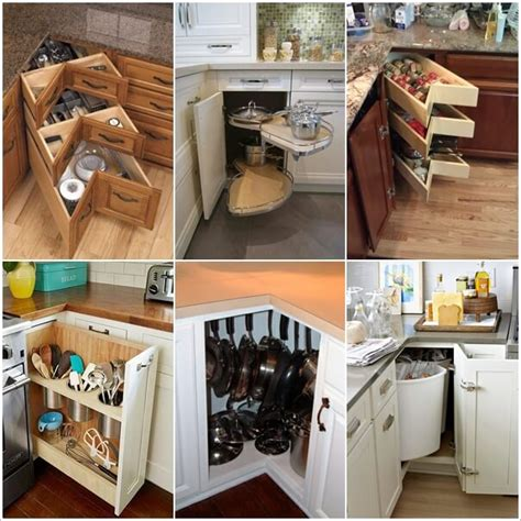 kitchen cabinets organization storage clever kitchen corner cabinet storage and organization ideas