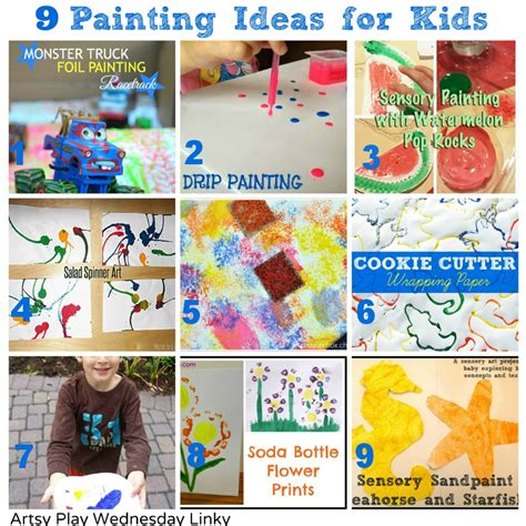 ideas for children painting ideas for