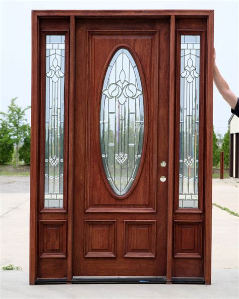 wooden doors with glass panels wooden door with glass and glass sides hpd482 glass