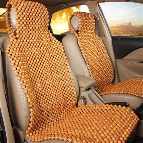bead seat covers wood wooden beaded seat cover cool