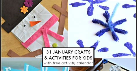 january crafts for 31 january activities for free activity calendar