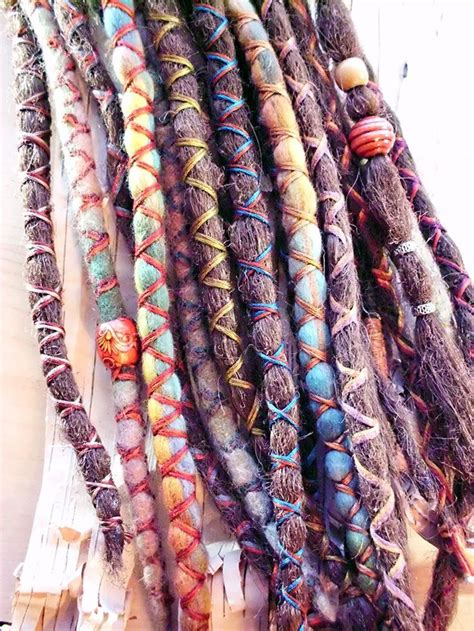 dreadlock and accessories 10 custom standard clip in synthetic dreadlock extensions