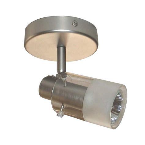 home depot lighting fixture hton bay 1 light brushed steel track lighting ceiling