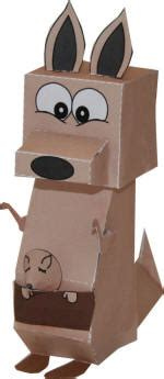 kangaroo paper craft kangaroo 3d paper model
