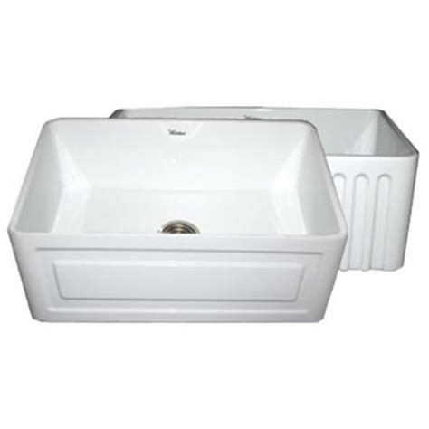 apron front kitchen sink white whitehaus collection raised panel reversible farmhaus