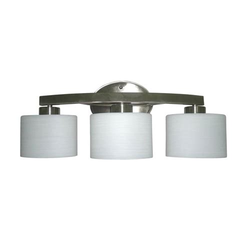 allen roth bathroom lighting shop allen roth 3 light merington brushed nickel