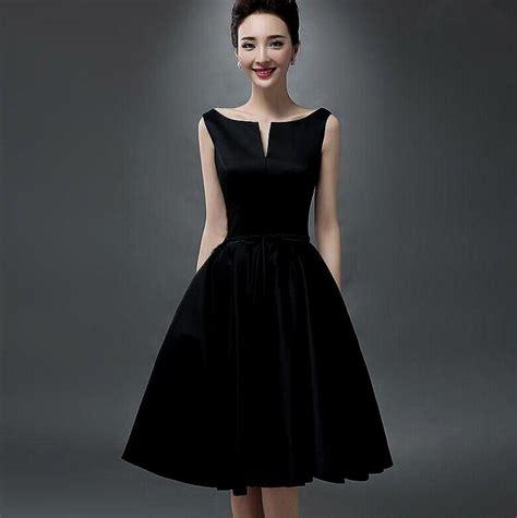 black dress knee length black formal dresses naf dresses