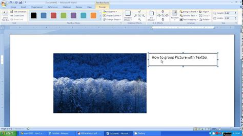 on microsoft word microsoft word 2007 tutorial how to picture and