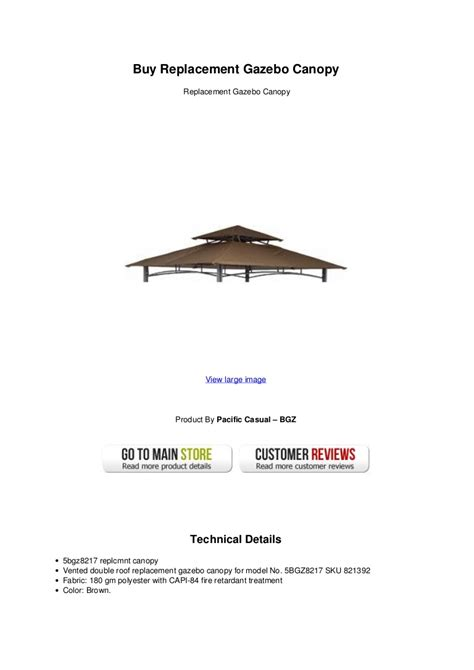 Buy Canopy by Buy Replacement Gazebo Canopy