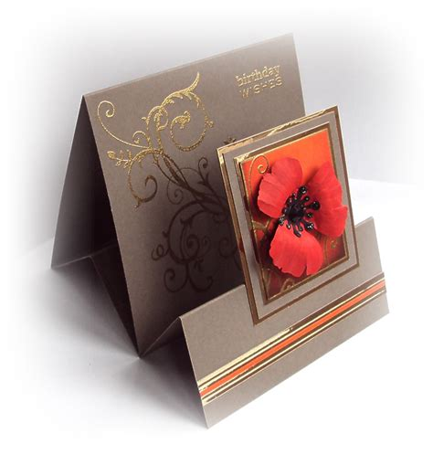 how to make a tent card crafticious tent fold card poppy